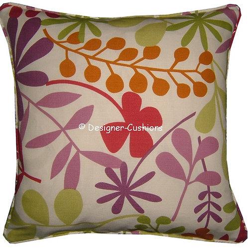 Jane Churchill 'Calder' Lilac Colourway Linen Cushion Cover
