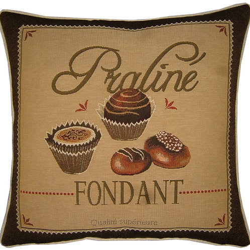Confectionary Praline Fondant Tapestry Cushion Cover