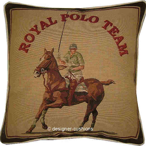Royal Polo Team Horse Tapestry Cushion Cover
