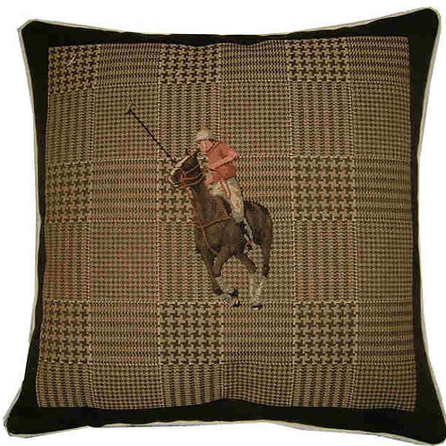 Polo Player Red Horse Tapestry Cushion Cover