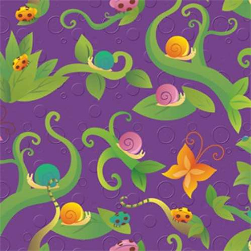 Avlyn Before the Kiss Purple Vines Quilt Fabric