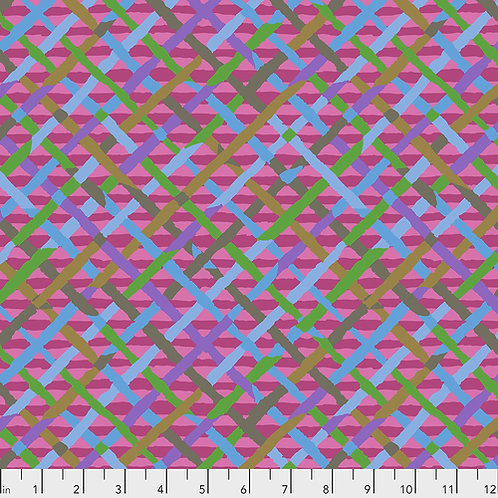 Kaffe Fassett Feb2020 - Mad Plaid PWBM037 FUCHSIA Quilt Fabric