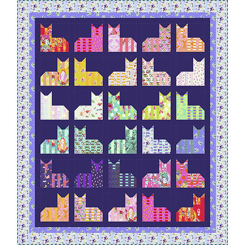 """Tula Pink """"Cheshire Cats"""" Diva Quilt Pattern Free Download pdf"""