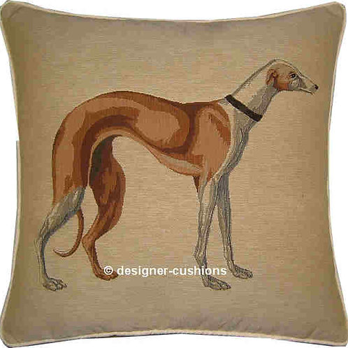 Greyhound Tan Tapestry Cushion Cover