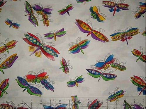 Japanese Flutter Col 1 Novelty Quilt Fabric