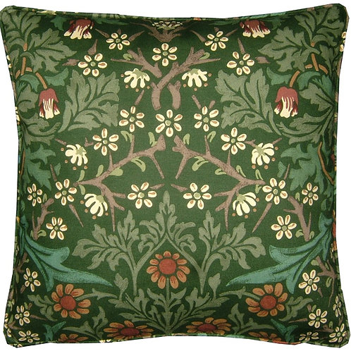 William Morris Blackthorn Green Cushion Cover