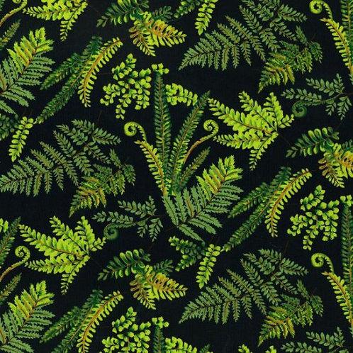 Nutex Kiwiana Fernlea Navy Quilt Fabric 7360