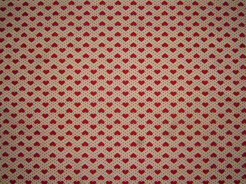Japanese Fabrics Mini Hearts Quilt Fabric Col 5