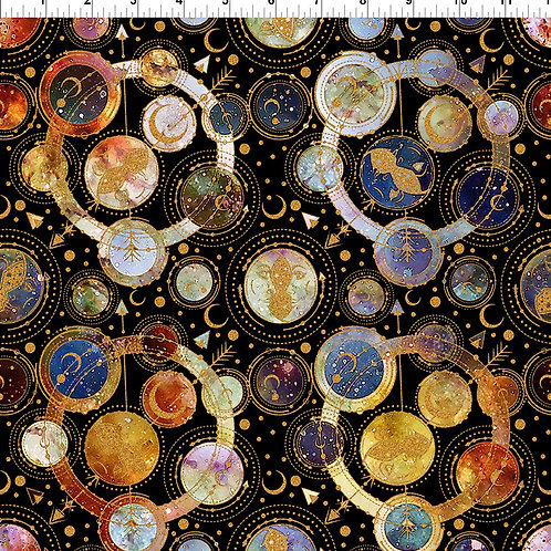 """Jason Yenter """"Cosmos"""" Allover 4COS-1 Quilt Fabric"""
