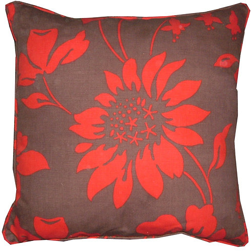 Romo Cicely Chocolate & Red Cushion Cover