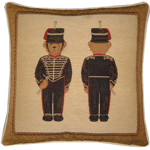 Kings Troops Teddy Bear Tapestry Cushion Cover