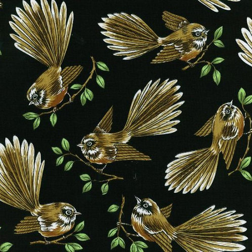 Nutex Kiwiana Fantail Birds Quilt Fabric 88060
