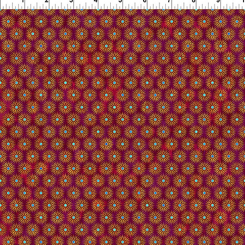 "Jason Yenter ""Cosmos"" Red Starburst 8COS-2 Quilt Fabric"