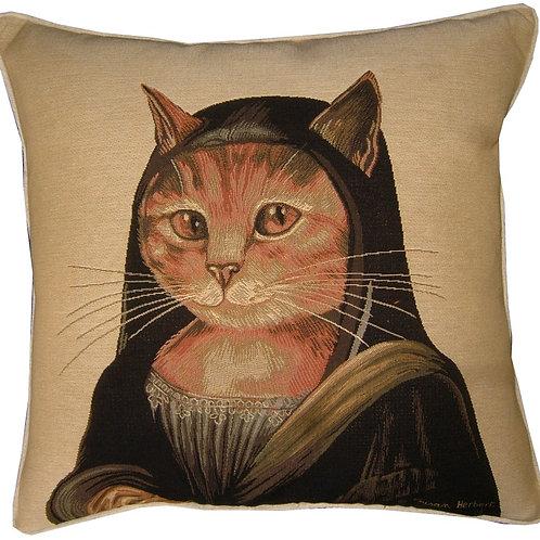 Susan Herbert Mona Lisa Cats Tapestry Cushion Cover