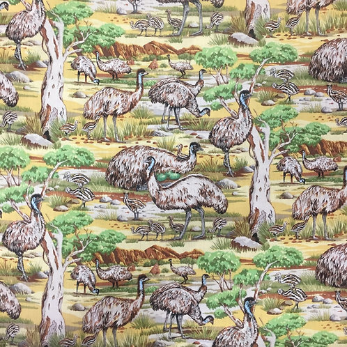 Nutex Australiana Emu Quilt Fabric