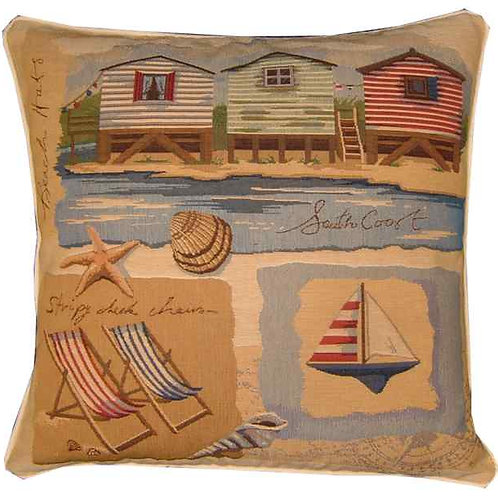 Beach Theme South Coast Tapestry Cushion Cover