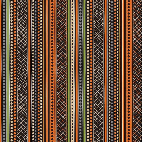 Nutex Australiana Malkamalka Stripe Black 11520 Quilt Fabric