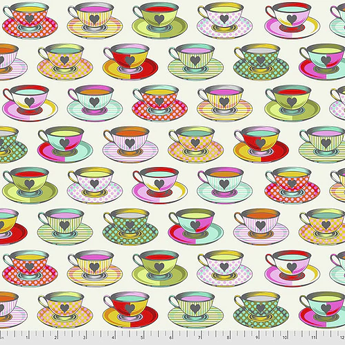 """Tula Pink """"Curiouser"""" Tea Time Sugar PWTP163 Quilt Fabric"""