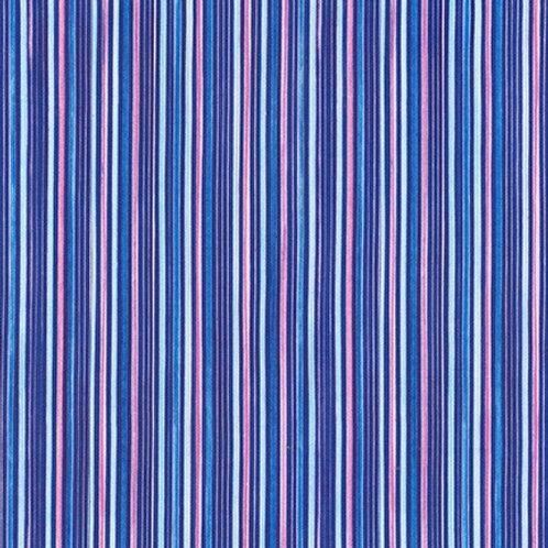 Robert Kaufman Synchronicity Stripe Blueberry 18694-77 Quilt Fabric