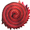 "Thumbnail: Batik ""Red Berry"" Designer Roll - 20 x 5"" x WOF"