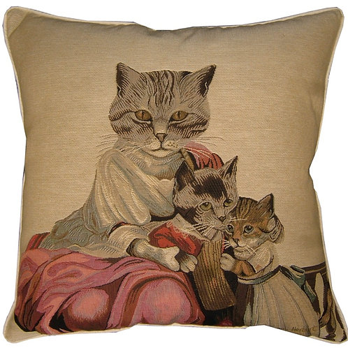 Susan Herbert Family of Cats Tapestry Cushion Cover