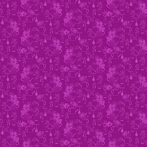 Figo Flora Pink Outlines 90150-82 Quilt Fabric