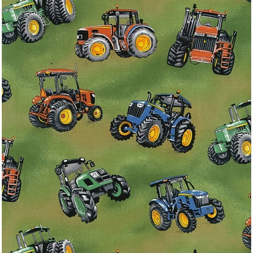 Nutex Novelty Tractor Time 89910/1 Quilt Fabric