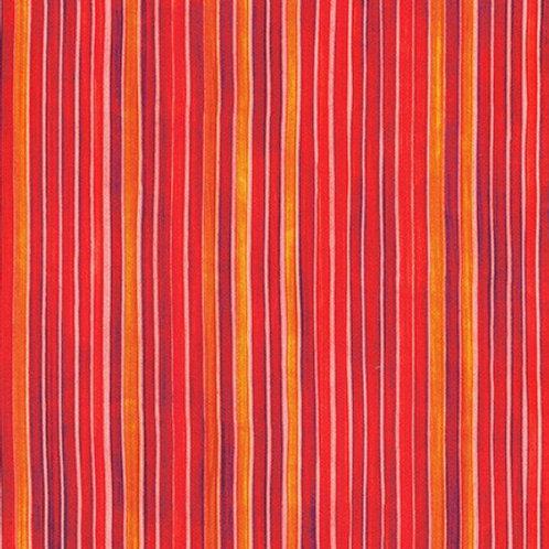 Robert Kaufman Synchronicity Stripe Poppy 18694-302 Quilt Fabric