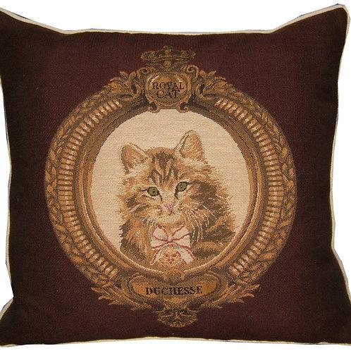 Kitten in Frame Duchesse Brown Tapestry Cushion Cover