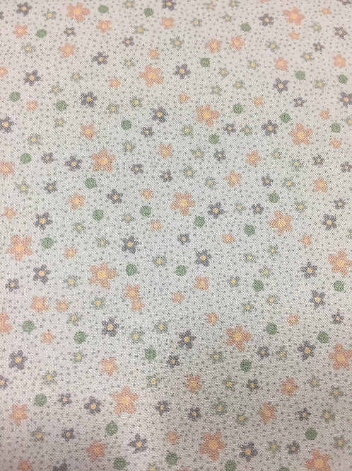 "Lynette Anderson ""Swan Cottage"" Tiny Flowers Green 80450 Col5 Quilt Fabric"