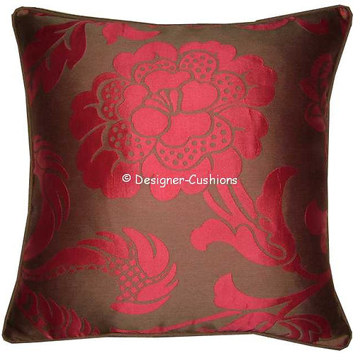 Romo Rosali Chocolate & Cerise Cushion Cover