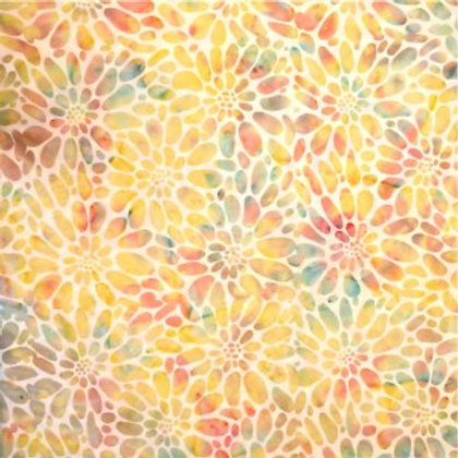 Mirah Zriya Pearl Drops Batik Muted Fresco P/PL-01-5696 Quilt Fabric