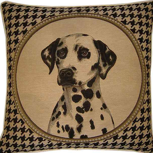 Dalmation Dog Tooth Check Tapestry Cushion Cover