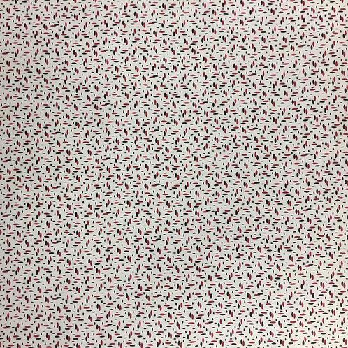 "Washington St Studio ""Garibaldi"" Black & Red Spots Quilt Fabric 26744MUL1"