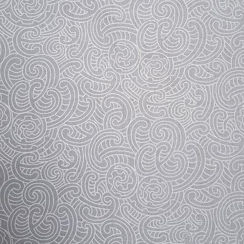 Nutex Kiwiana Ponga Koru Grey 85600 Col6 Quilt Fabric