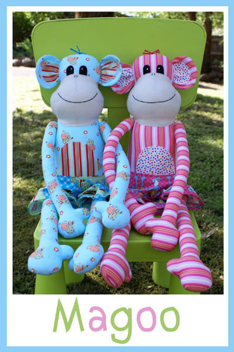 "Melly and Me ""Magoo"" Monkey Soft Toy Pattern MM035"