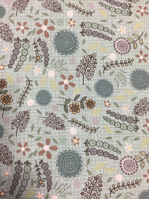 "Lynette Anderson ""Swan Cottage"" Wallflower Green 80450 Col2 Quilt Fabric"