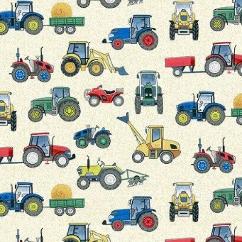 MakowerUK Village Life Tractors 94000 Col1 Quilt Fabric