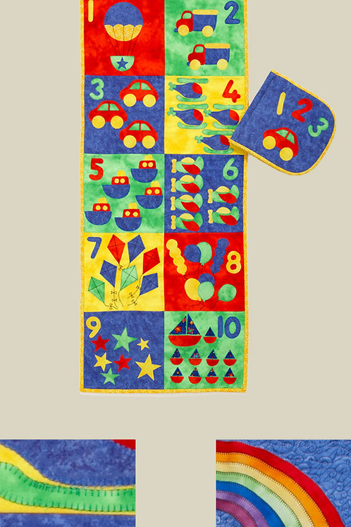 Kids Quilts '123 Count With Me' Wall/Book Quilt Pattern