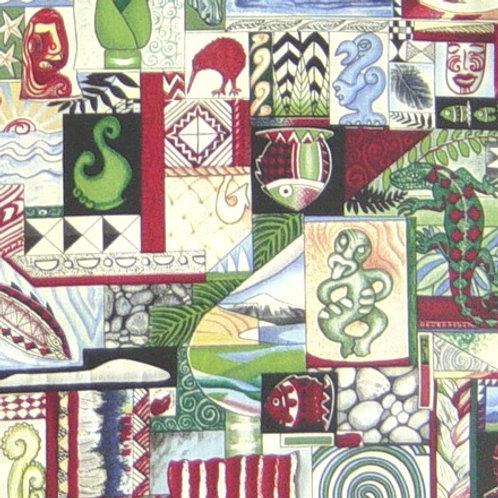 Hoffman Kiwiana Onyx Quilt Fabric