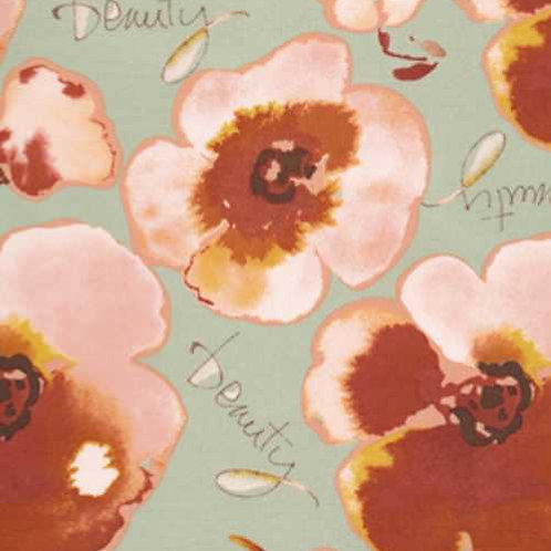 Kathy Davis JOURNEYS Floral Beauty Green Quilt Fabric