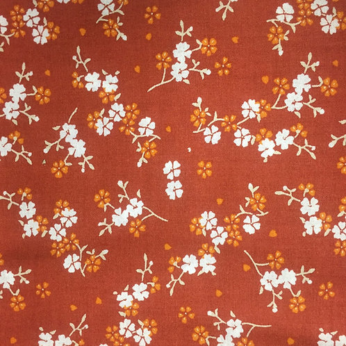 **SPECIAL** Floral Terracotta Quilt Fabric