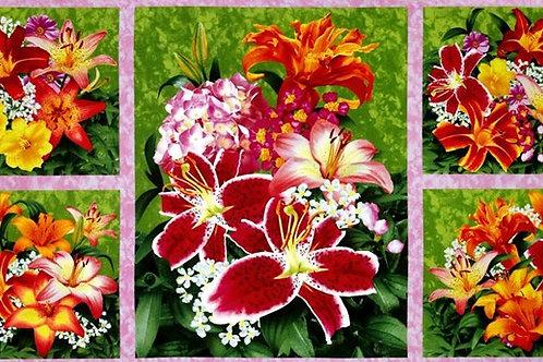 "SSI Floral Fascination Panel 60cm / 24"" Quilt Fabric"