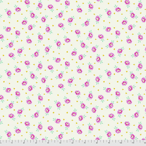 """Tula Pink """"Curiouser"""" Baby Buds Sugar PWTP167 Quilt Fabric"""
