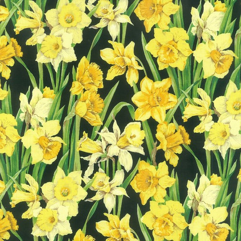 Nutex Novelty Daffodils 89420 Col2 Quilt Fabric
