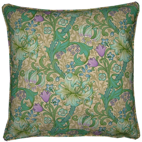 William Morris Golden Lily Minor Turquoise Cushion Cover