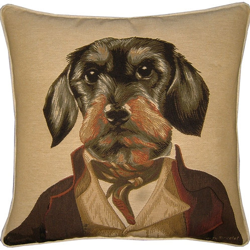 Thierry Poncelet Dachshund Tapestry Cushion Cover
