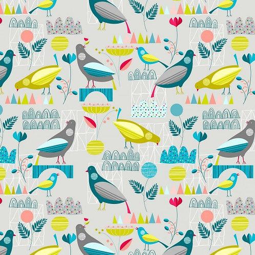 Nutex Neighbourhood Scenic Birds 89890 Col 1 Quilt Fabric