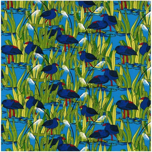 Nutex Wetlands Pukeko 87210 Col2 Quilt Fabric