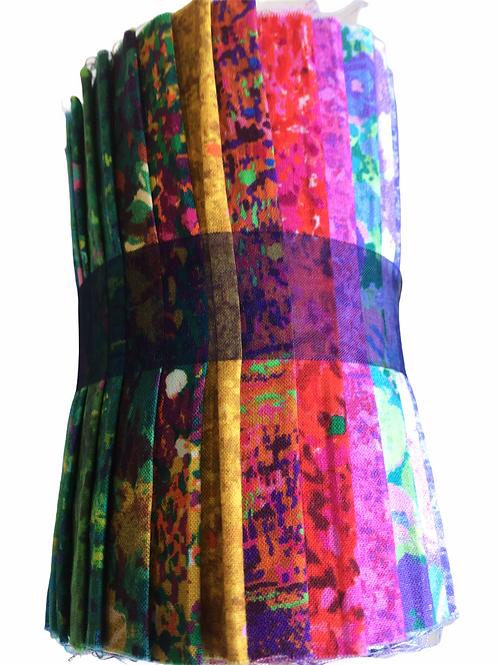 """Robert Kaufman 'Painterley Park' Designer Roll - 20 x 5"""" x WOF"""